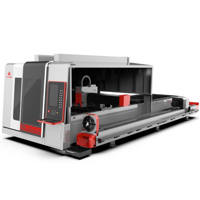 Closed Type Exchange Table Sheet and Tube Laser Cutting Machine